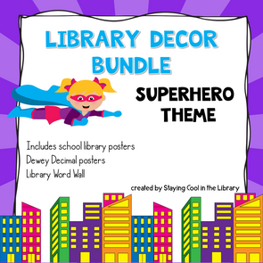 Superhero Library Decor Pack