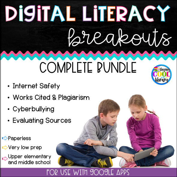 Digital Literacy Breakouts - Complete Bundle
