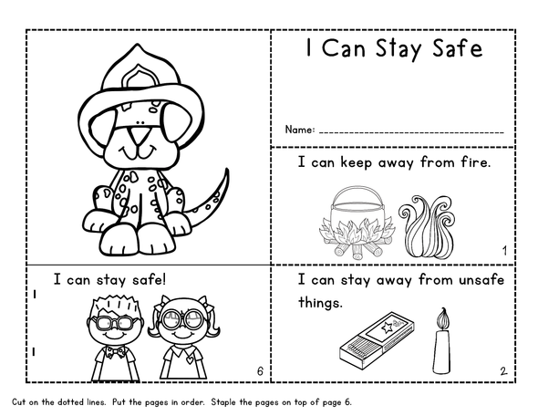 Fire Safety Mini Books and Printables