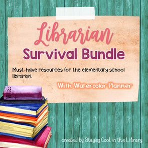 Ultimate School Librarian Survival Kit - Watercolor Planner