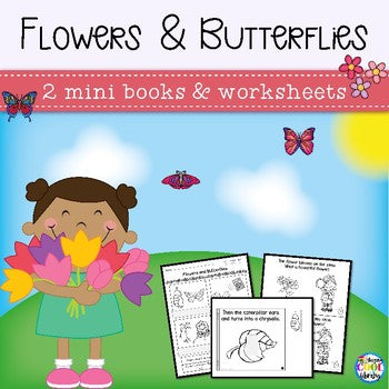 Butterflies and Flowers Mini Books Mini Books (Emergent Reader)