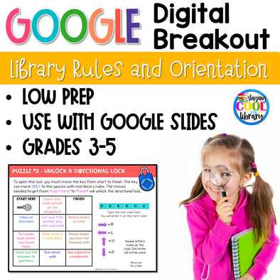 Digital Breakout - Library Rules and Orientation