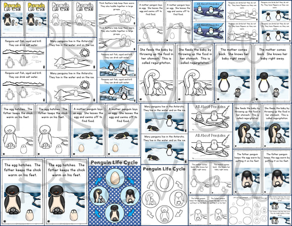 Penguins Mini Books