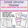 School Library Planner - Watercolor