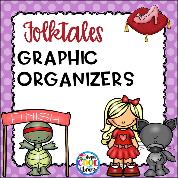Folktales Graphic Organizers - Staying Cool in the Library