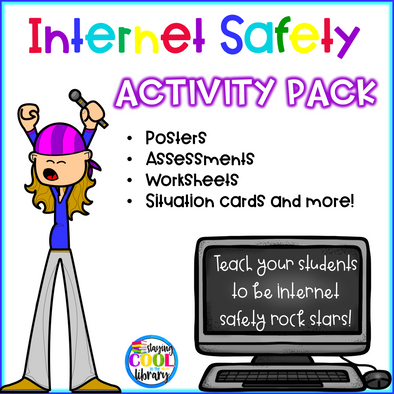 Internet Safety Activity Pack - Staying Cool in the Library
