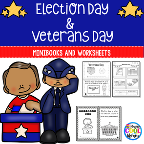 Election Day and Veterans Day Mini Books