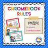 Chromebook Rules Posters {Editable} - Staying Cool in the Library