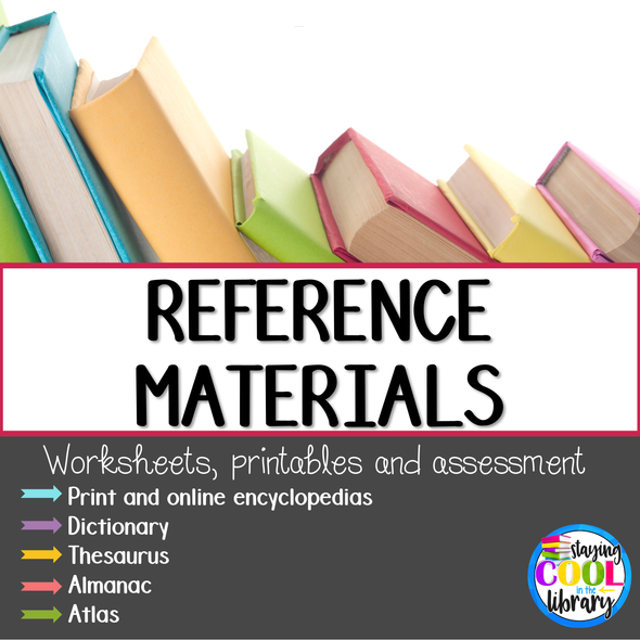 Reference Materials Printables and Worksheets - Staying Cool in the Library