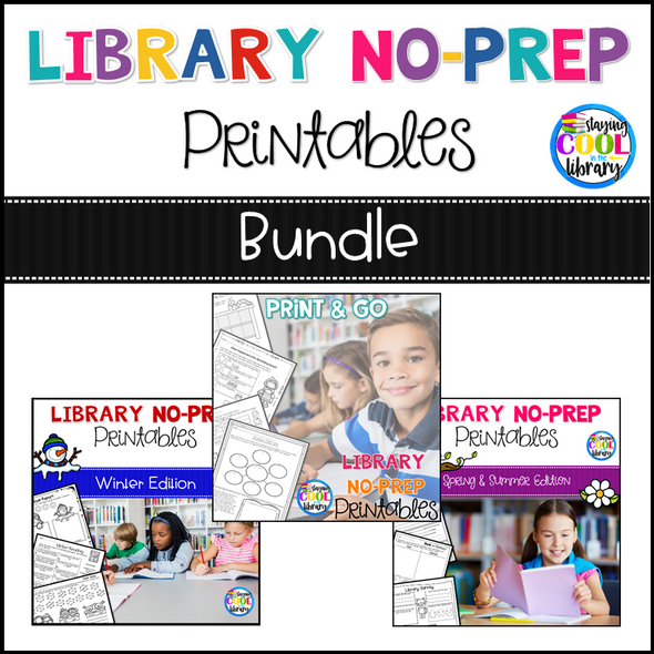 Library No Prep Printables - Bundle (Library Skills) - Staying Cool in the Library