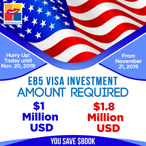 August 17th, 2019, 95 Days Left To Save $800,000 For Your EB5 Visa Investment.