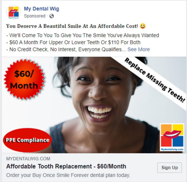 Buy Once Smile Forever™ $60/month Covers What Dental Saving  & Dental Insurance Plans Don't