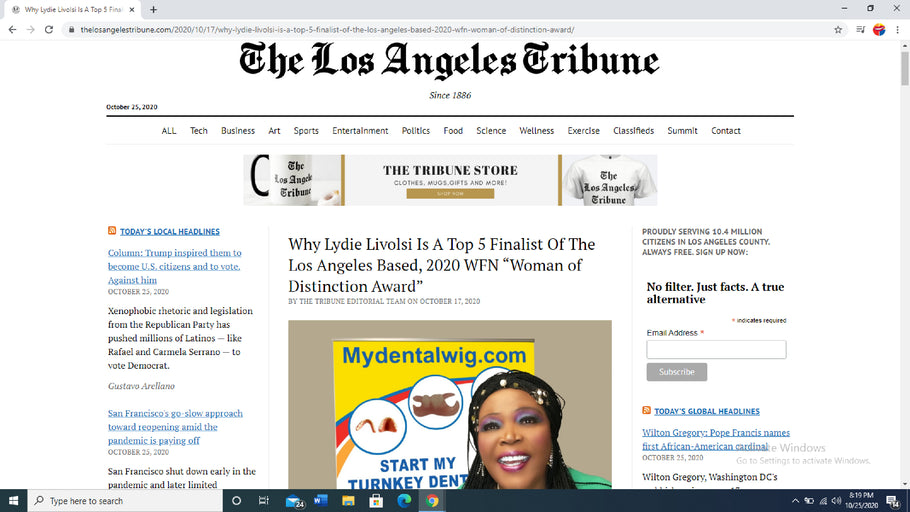 Thank You So Much The Los Angeles Tribune
