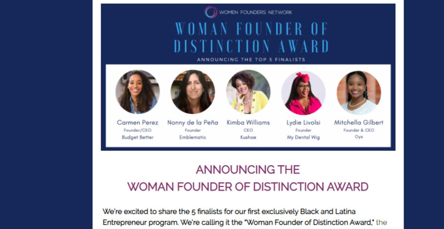 "MyDentalWig.com Founder, Lydie Livolsi Among The Top 5 of the 2020 ""Woman Founder of Distinction Award"" Finalists"