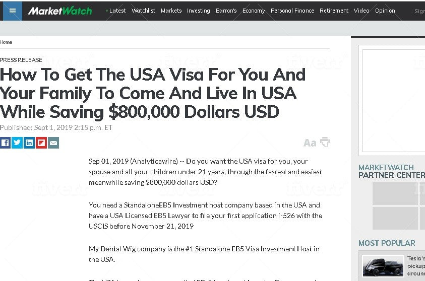How To Get The USA Visa For You And Your Family To Come And Live In USA While Saving $800,000 Dollars USD