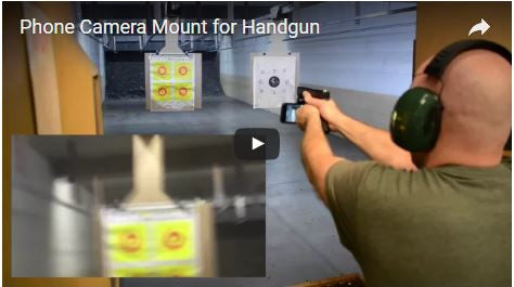 Video Camera Mount for Handgun - Pistol - Gun - Demo Video