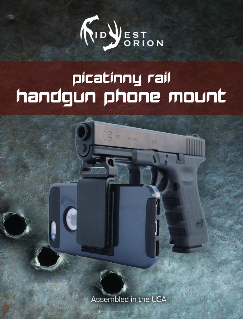 Handgun Camera Mount - Video Record Shots - Smartphone Mounts