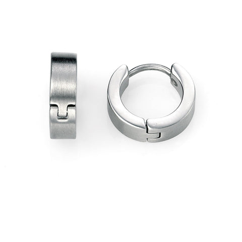 Brushed stainless steel earrings