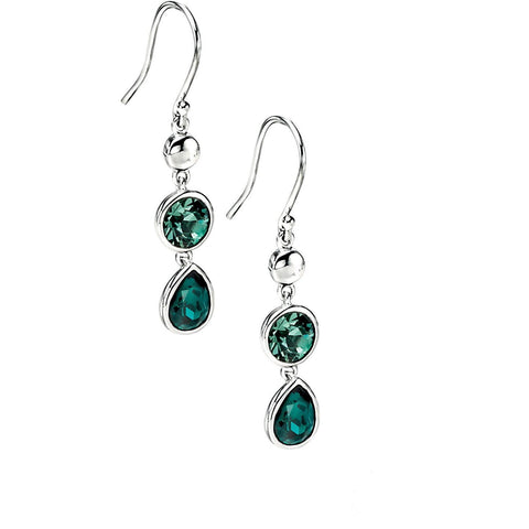 0.1 NO IMAGE Erinite/Emerald Swarovski Crystal Drop Earring