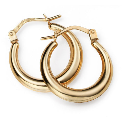 9ct Yellow Gold lever hoops