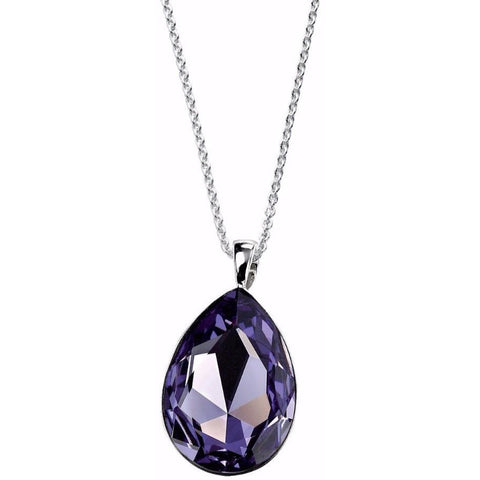 Swarovski Crystal teardrop necklace in tanzanite purple
