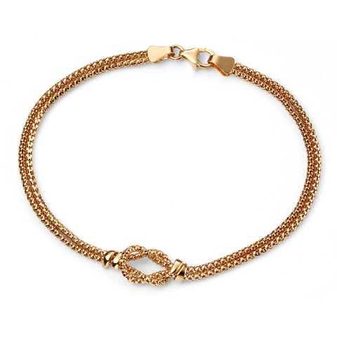 9ct gold rope knot bracelet