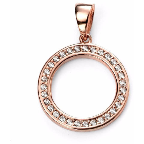 Rose gold plated circle necklace