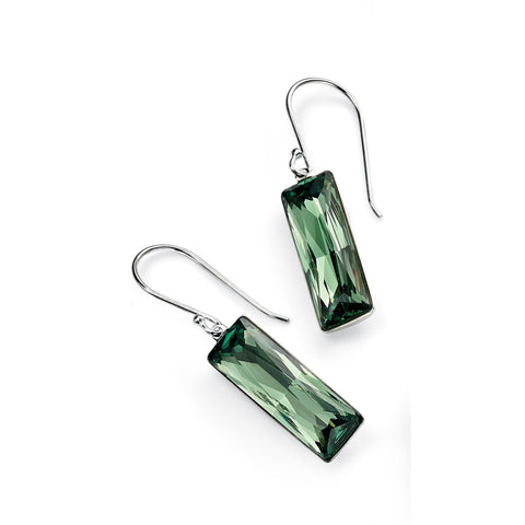 0.1 NO IMAGE Erinite Swarovski crystal rectangle drop earrings