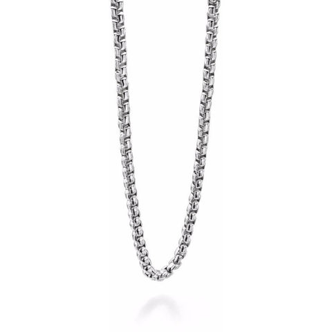 Large steel link chain necklace
