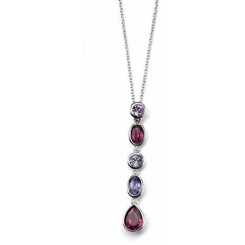 Purple Swarovski Crystal drop necklace