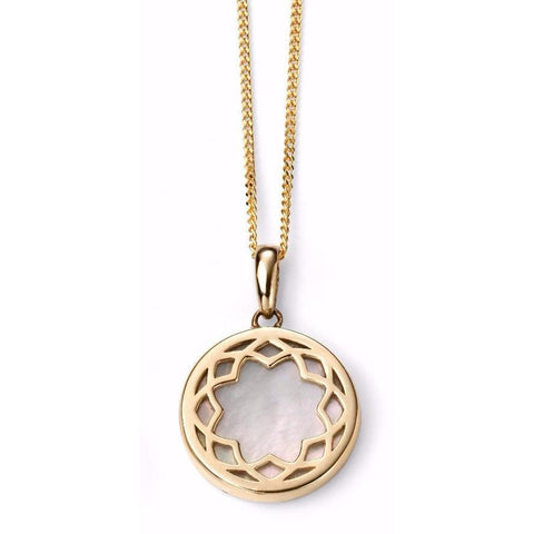 9ct Yellow Gold necklace with Mother of Pearl Inlay