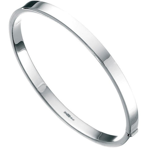 Silver bangle with straight sides