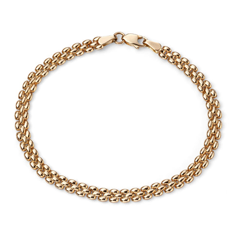 9ct yellow gold link bracelet