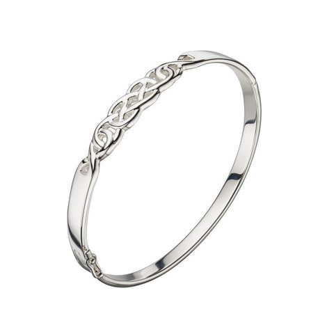 Silver celtic bangle
