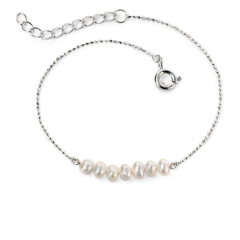 Freshwater Pearl and Silver Bracelet