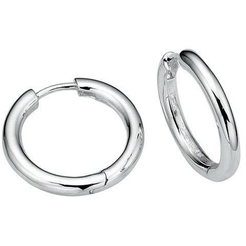 Silver huggy hoop earrings