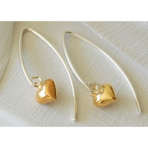 Gold vermeil heart earrings