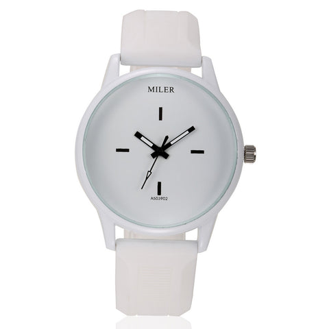 MILER Black & White Unisex Wristwatches
