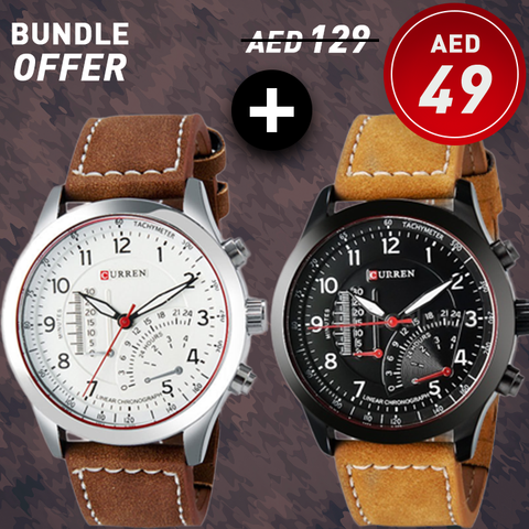Curren 8152 Watches 2 in 1 Bundle Offer !!