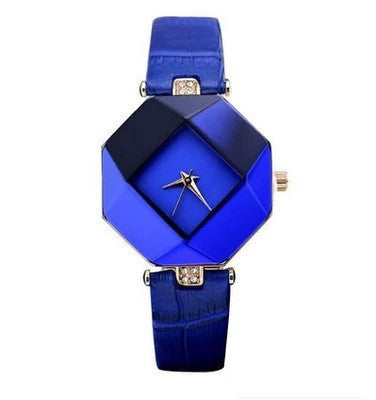 Jewel Gem Cut Prismatic Slender Wristwatches