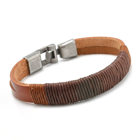 Retro Punk Unisex Leather Bracelet