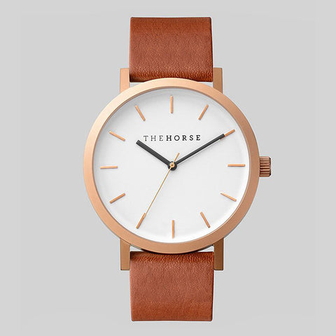 THEHORSE Unisex Watch with Genuine Leather & Japanese Quartz