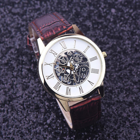 Rome Dial Skeleton Wristwatches