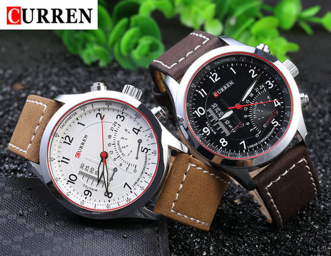 Curren - 8152 Relogio Masculino Leather Watch