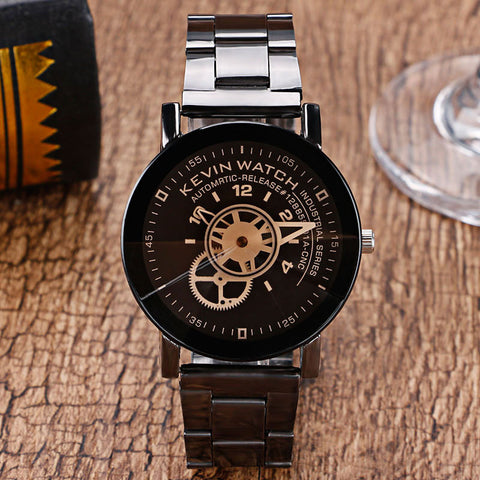KEVIN Gear Black Wristwatch