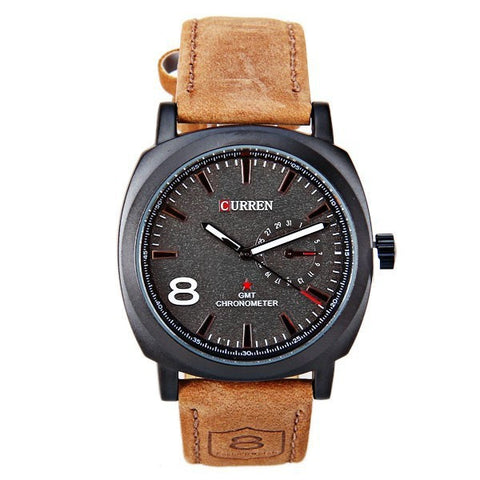 Curren Leather Band Watch For Men KMP246