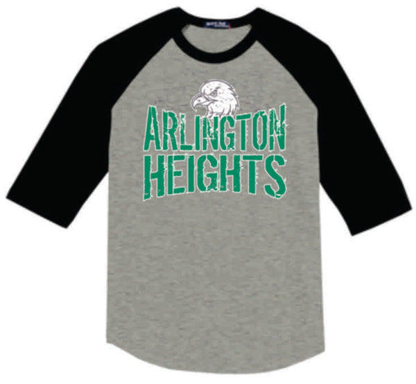 #10 - AH Spirit 3/4 Sleeve Baseball T-shirt - AH Eagles 2020