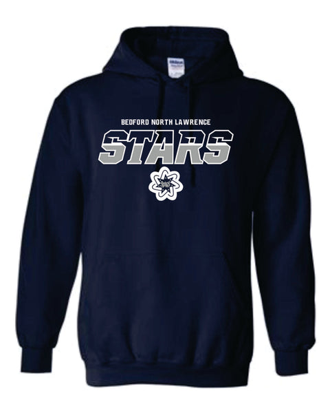 Navy Stars Hooded Sweatshirt AXL ONLY - Boys Bball 2020
