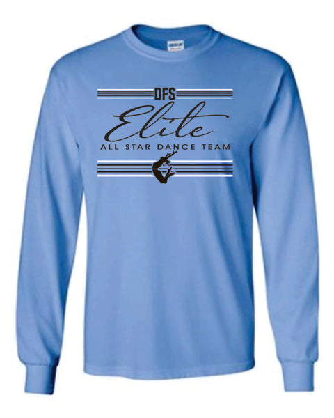9 - Carolina Blue LONG SLEEVE TEE - DFS Elite 2020