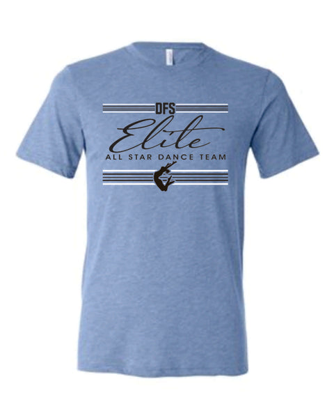 8 - Blue Triblend SOFT STYLE TEE - DFS Elite 2020